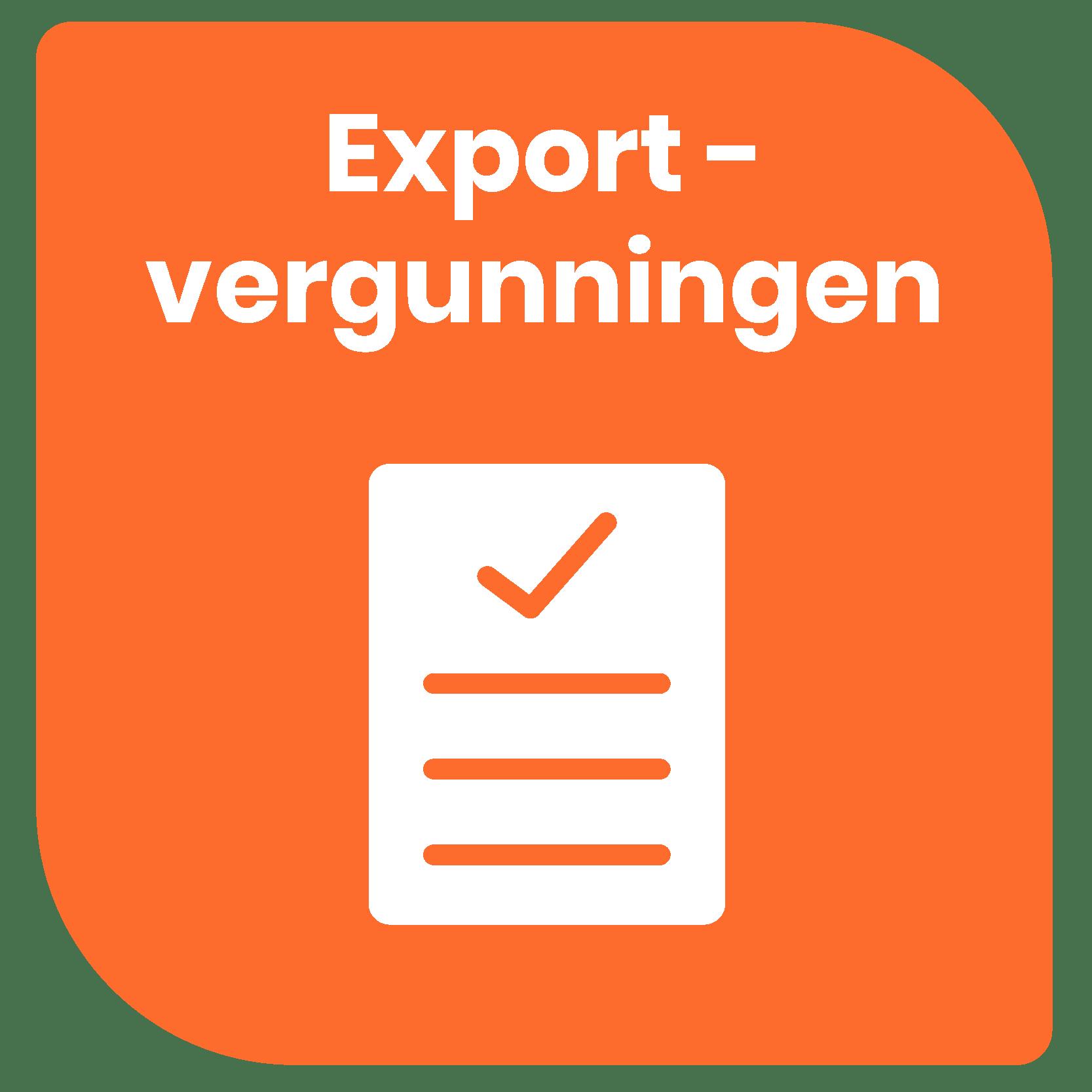 Exportvergunningen